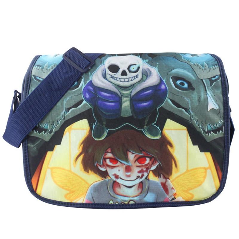 New Arrival: Undertale Polyester Aslant School Satchel/Crossbody Messenger Shoulder Bag