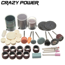 CRAZY POWER 105 Pcs/Set Wood Metal Mold DIY Cutting Polishing Grinding Abrasive Tools Rotary Bit Kit Tool Accessories Set AT2018