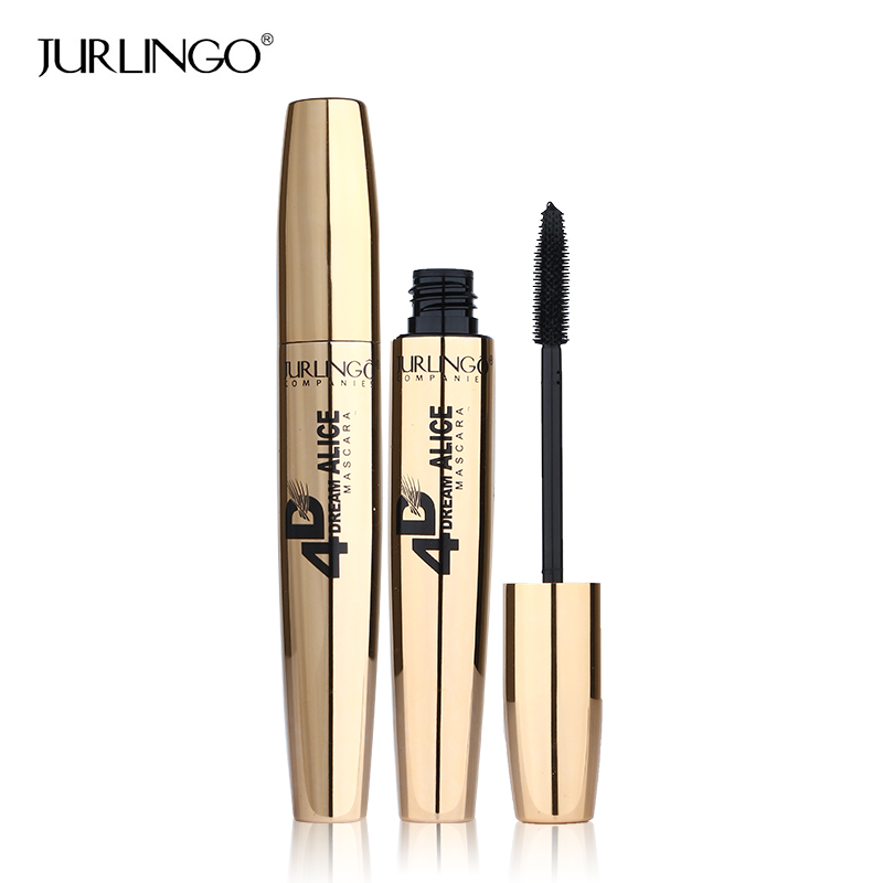 365456f4d26 Aliexpress.com : Buy New Fashion Gold Style 4D Black Mascara Brand JURLINGO Makeup  Super Volume Curling Thick Eye Lash Waterproof Mascara Cosmetics from ...
