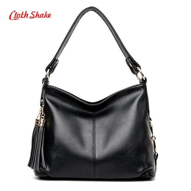 bdfcebc3b546 2017 Fashion Designer Women Handbag Female PU Leather Bags Handbags Ladies  Portable Shoulder Bag Office Ladies Tassel Bag Totes