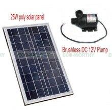 США наличии 25 Вт поли Панели солнечные с бесщеточный DC12V насос горячей воды циркуляционный насос