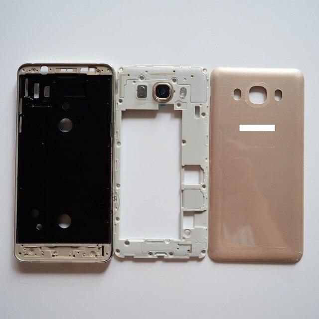 Для Samsung Galaxy J5 2016 Полный Жилищно Передняя ЖК Рамка Рамка + Ближний Рамка + Крышка Батарейного Отсека Чехол