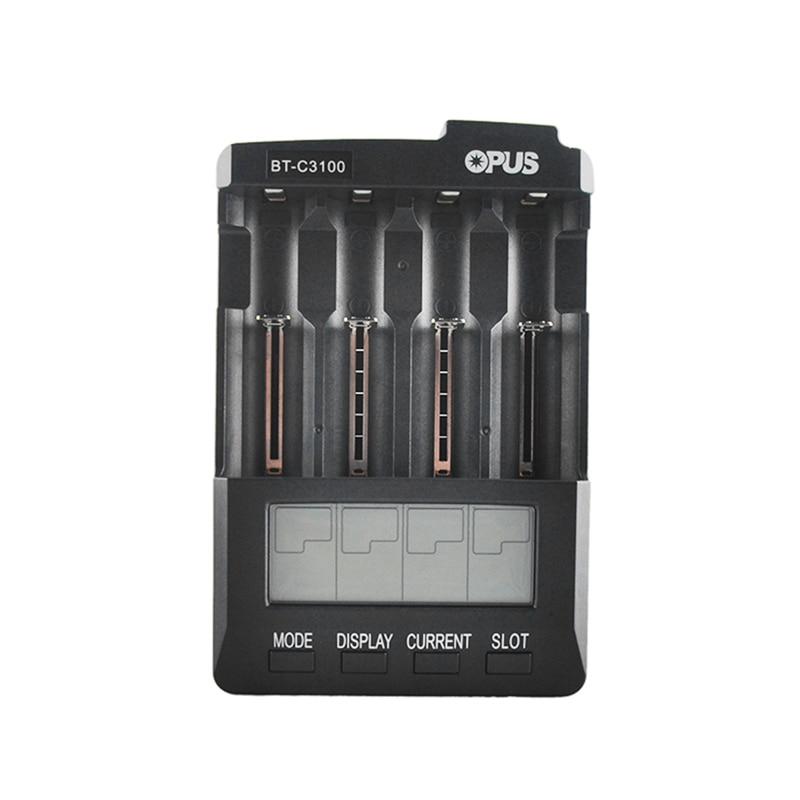 Original Opus BT-C3100 Battery Charger 4 Slots Digital LCD LI-ion NiCd NiMh AA AAA 26650 14500 16340 17335 17500 18490 18650 rechargeable 1500mah 3 7v 26650 li ion battery brown