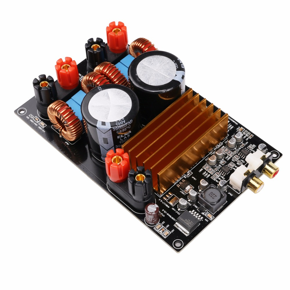 Class D TPA3255 MINI HIFI AUDIO Digital Amplifier Board 300W + 300W DC50V yjhifi tas5630 opa1632dr audio high power digital amplifier board class d 2 300w dc50v hifi diy deluxe edition