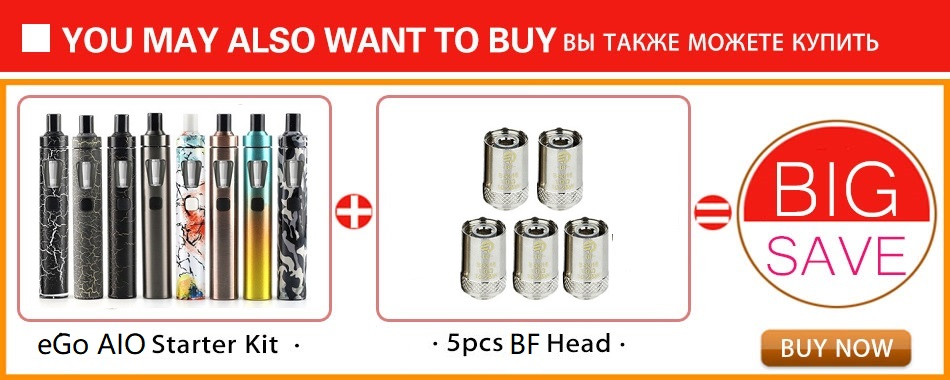 Original Joyetech eGo AIO Vape Kit Starter Kit w/ 2ml Tank & 1500mah Battery eGo aio Vape Pen Kit & BF Coil vs ijust s / pen 22 4