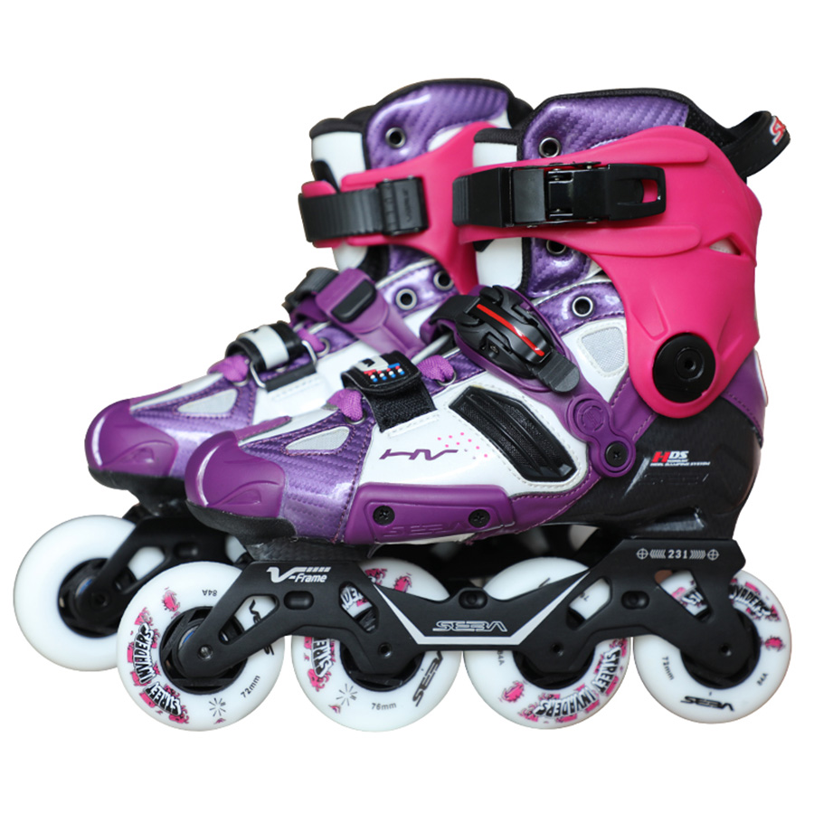 100% Original 2019 Seba Hohe V-rahmen Lila Erwachsene Inline Skates Roller Skating Schuhe Slalom Schiebe Fsk Patines Adulto Japy 100% Original