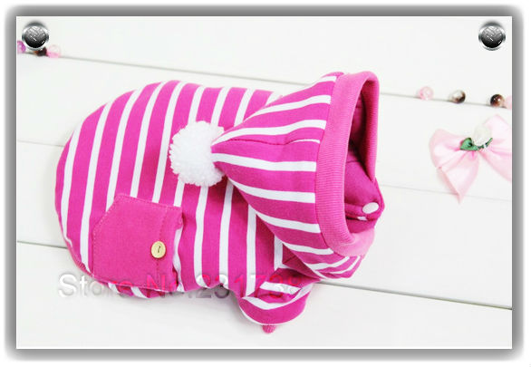 (Special offer)2014 Rose Red Winter Thicken Warm Pet dog Coat Jackets Clothing