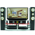 Free Shipping  Mini Hi-Fi 1:6 TV Home Theater Cabinet Set Combo for Barbie Dolls Accessories House Dollhouse Furniture Baby Toys
