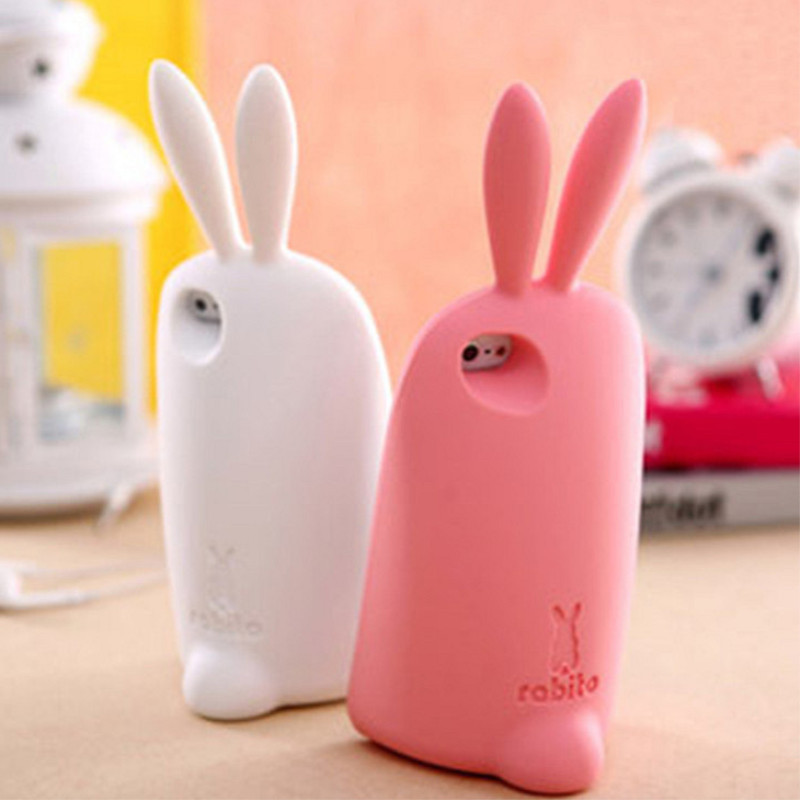 outlet store 0be60 c8107 US $8.89 |Rabbit Case Long Ear Hot Sale 3D Cute Silicon Bunny Soft Skin  Lovely Protective Cover For iPhone 5 with free shipping on Aliexpress.com |  ...