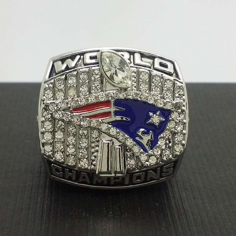 2001 New England Patriots Football Super Bowl World Championship Ring 11Size 'Brady' Fans Solid Back Gift Collection - Customize Store store
