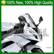Light Smoke Windscreen For KAWASAKI NINJA ZZR400 93-07 ZZR 400 ZZR-400 1993 1994 1995 1996 1997 1998 #09 Windshield Screen