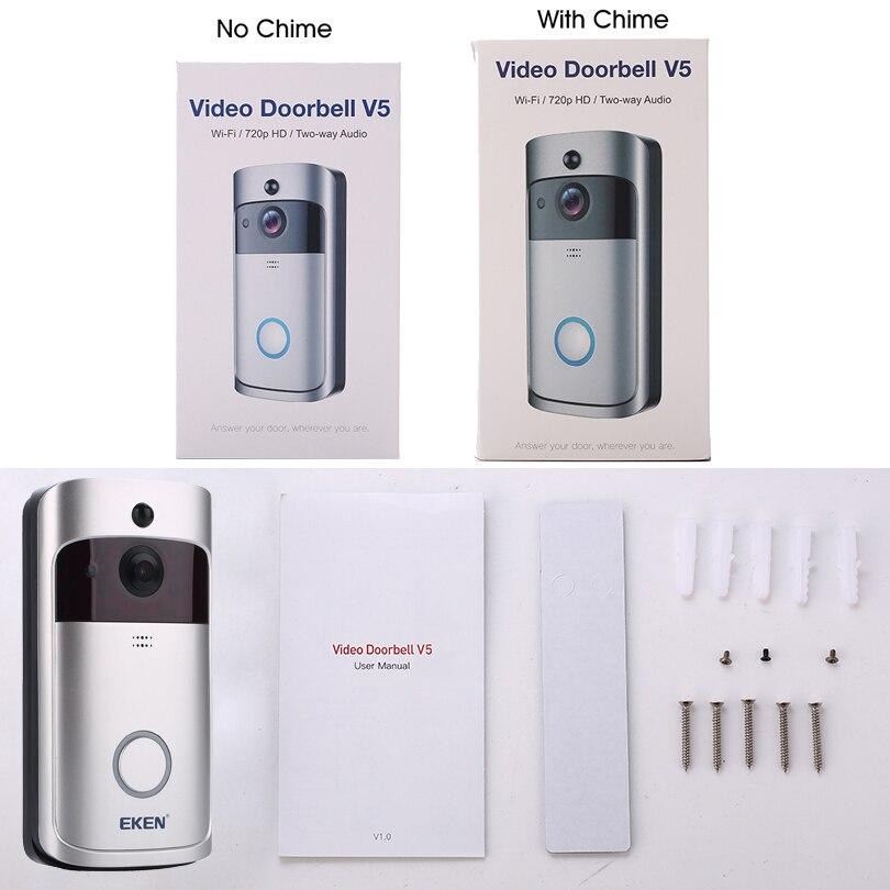 Image 5 - V5 Smart IP WIFI Doorbell Video Intercom WI FI Door Phone Door Bell Camera For Apartments IR Alarm Wireless Security Camera-in Doorbell from Security & Protection