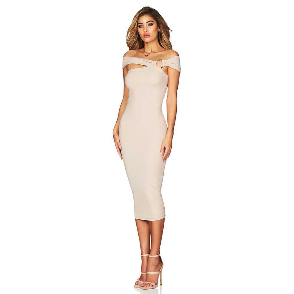 Adyce 2019 Новое поступление летнее женское Бандажное платье Vestido с открытыми плечами вечерние платья для подиума знаменитостей сексуальное Клубное платье