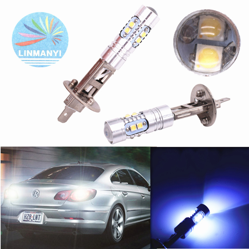 LED Kit C6 72W H7 8000K Blue Two Bulbs Light DRL Daytime Replacement Upgrade OE