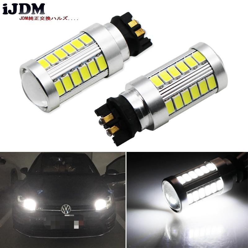 Ijdm canbus livre de erros pw24w pwy24w lâmpadas led para audi bmw volkswagen turn signal lights ou luzes diurnas, xenon 6000k