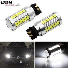 IJDM-bombillas LED Canbus PW24W PWY24W para Audi, BMW, Volkswagen, luces de señal de giro o luces de circulación diurna, xenón 6000k