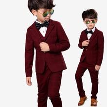 Children suit 2018 fashion children's clothing plaid autumn and winter boys suit performance clothing three / piece suit