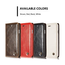 CaseMe Luxury Retro Leather Stand Flip Card Slot Wallet Phone Cases Back Cover Pocket Pouch Holder Shell For iPhone For Samsung цена