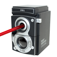 Free Shipping Deli 0668 Pencil Sharpener Pencil Machine Adjustable Pencil Sharpener Old Camera Pencil Sharpener