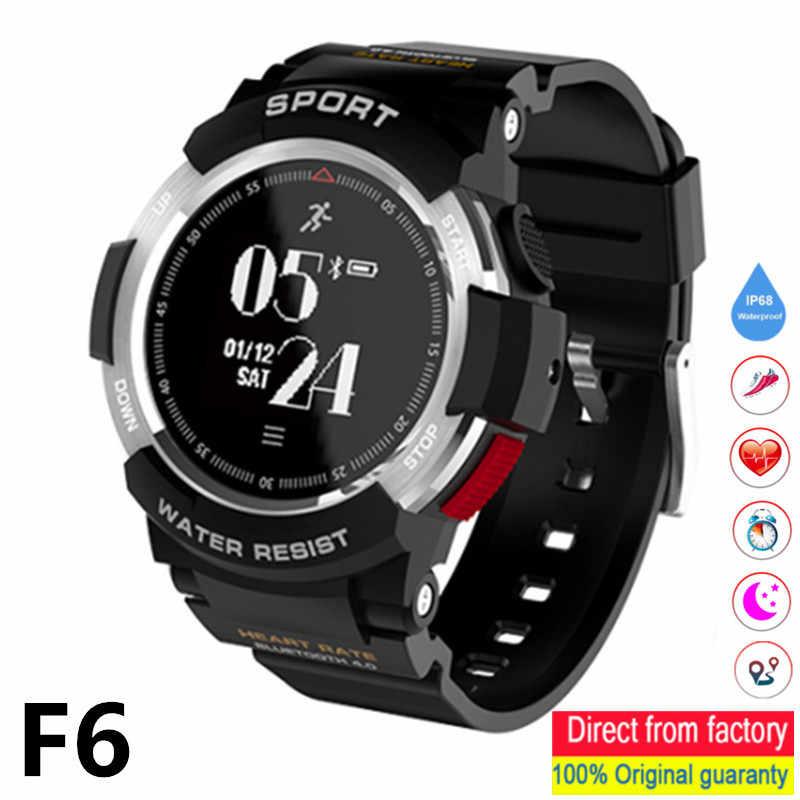 F6 חכם שעון IP68 עמיד למים Bluetooth עם GPS מסלול תנועה ניטור קצב לב מד צעדים עבור אנדרואיד IOS Smartwatch גברים