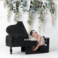 Dvotinst реквизит для фотографии новорожденных детские Ретро деревянный позирует черный пианино музыкант Fotografia аксессуар студия стрелять рек