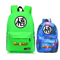 2017 Hot Anime DRAGON BALL Son Goku Harajuku Galaxy Canvas Fashion Printing Backpack Mochila Feminina School Bag Travel Bag