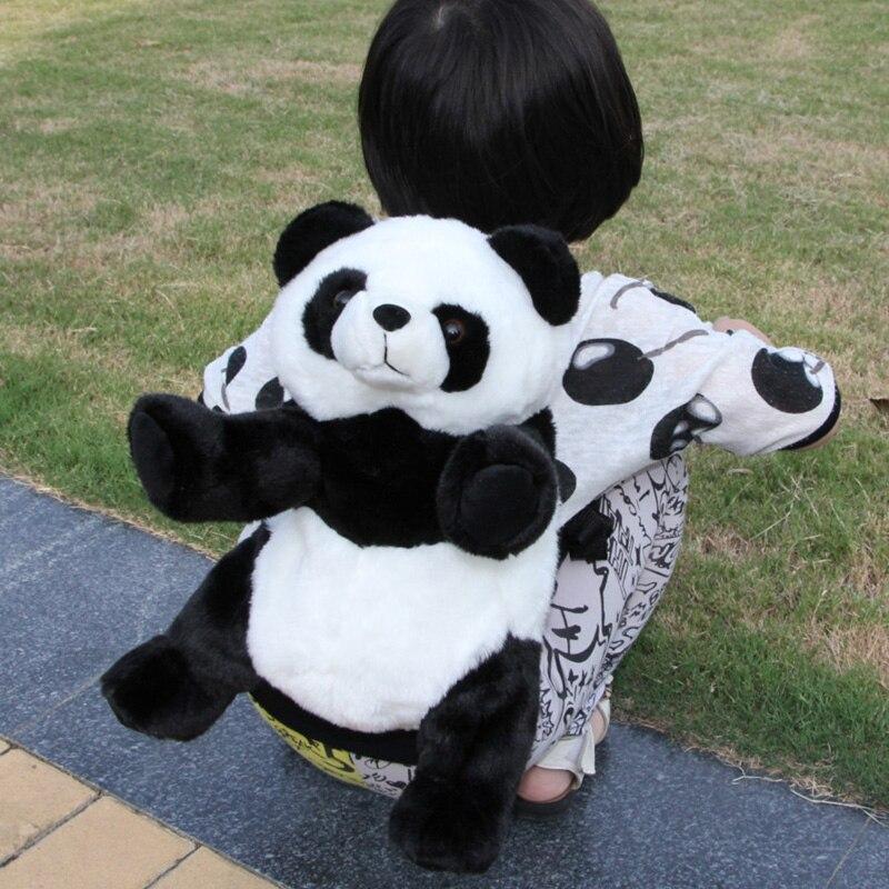 48cm Panda kuprinė 2016 nauja 3D gyvūnų plush krepšys juoda balta panda lėlė kūdikio gimtadienio dovana kuprinės mokyklos vaikams paauglių mergina