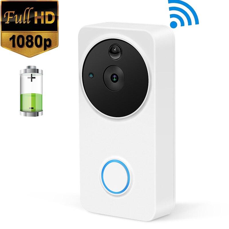 1080P 166 View Wide Angle Ring Door Bell Waterproof Indoor Outdoor Two Way Audio Smart Battery Wifi Video Doorbell Camera