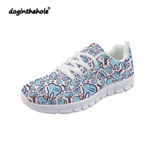 Doginthehole Dentist Tooth Medical Sneakers Fashion Women Sports Shoes Ladies Outdoor Walking Cute Nurse for Tennis Femme