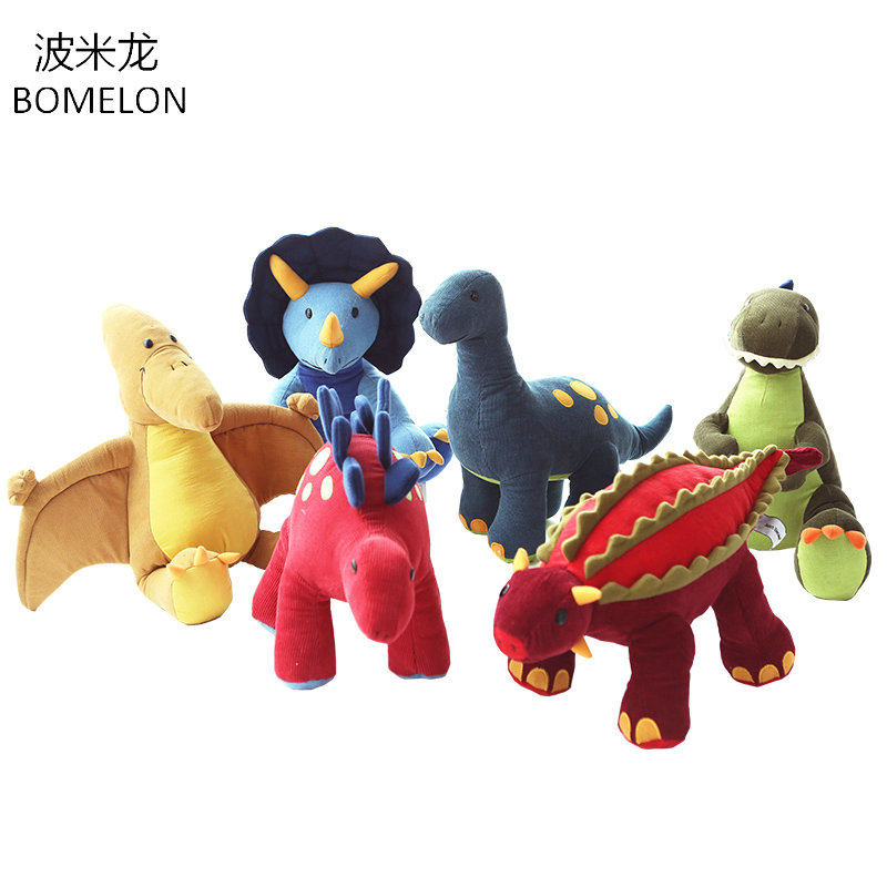 kawaii Dinosaur Plush Toys Tyrannosaurus Rex Stegosaur Big Stuffed corduroy Animals Dolls no lose hair Pillow Kids Birthday Gift 37 cm tyrannosaurus rex with platform dinosaur mouth can open and close classic toys for boys animal model without retail box