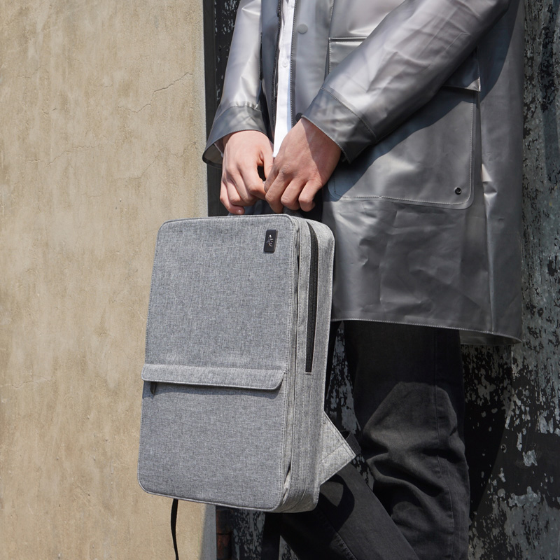 Image 5 - Slim Laptop Backpack Women/Men 14 inch Office Work Student Backpack Business Bag Unisex School Bag Ultralight Thin Back Pack-in Backpacks from Luggage & Bags