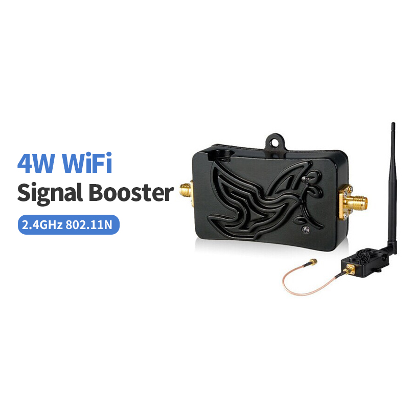Bluetooth Signal Booster 802.11b/g/n Wifi Wireless 4W 4000mW Amplifier Router 2.4Ghz WLAN Signal Booster 5dbi Long wifi Antenna стоимость