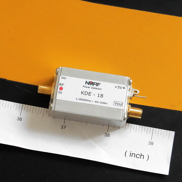 1 ~ 8000MHz Broadband RF Power Meter, Active Logarithmic Detector Module AD8318 rf power meter hf uhf signal 1 500mhz 74dbm to 18dbm logarithmic detect