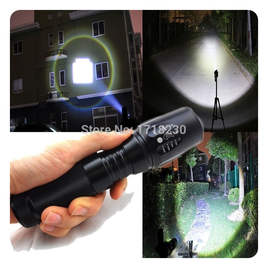 Zoomable Adjustable Focus 2200LM CREE XM-L T6 LED 18650/26650/AAA Flashlight Torch Hot hot selling zoomable focus 3000lm cree xm l t6 led 18650 26650 aaa flashlight torch