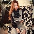 Dabuwawa женский жилет короткие 2016 женщин новый корейский моды тонкий все матч жилет розовая кукла
