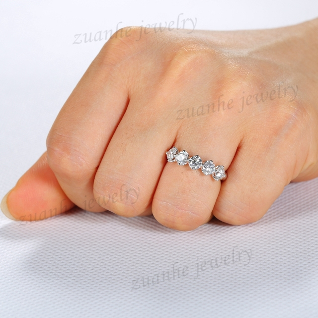 rings bands shared click wedding carat xlarge stone band prong diamond weight total