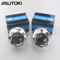 Car Restyling Metal 3.0 inch HID Bi xenon Projector Lens Headlight Xenon Headlamp Lenses Lighting H4 H7, Use H1 Xenon Bulbs