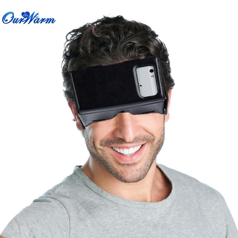 <font><b>Virtual</b></font> <font><b>Reality</b></font> Headset Smartphone 3D <font><b>VR</b></font> <font><b>Glasses</b></font> Concavo-Convex <font><b>DIY</b></font> Cardboard Video Box <font><b>PU</b></font> <font><b>Leather</b></font> Goggle