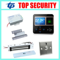 DIY MINI size fingerprint and RFID card time attendance and door access controller system with 180KG/280KG em lock bolt lock