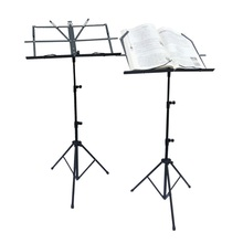 Free shipping professional music stand,folding sheet music stents,stave frame send black bag,metal setting height adjustment