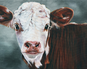"2019 NEW TOP original cow calf art oil painting-# 100% hand painted ART OIL PAINTING 30""  -accept custom animal art"