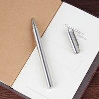 Handmade 303 Stainless Steel Metal Gel Pen Portable Pocket Business Writing Gift Office School Supplies