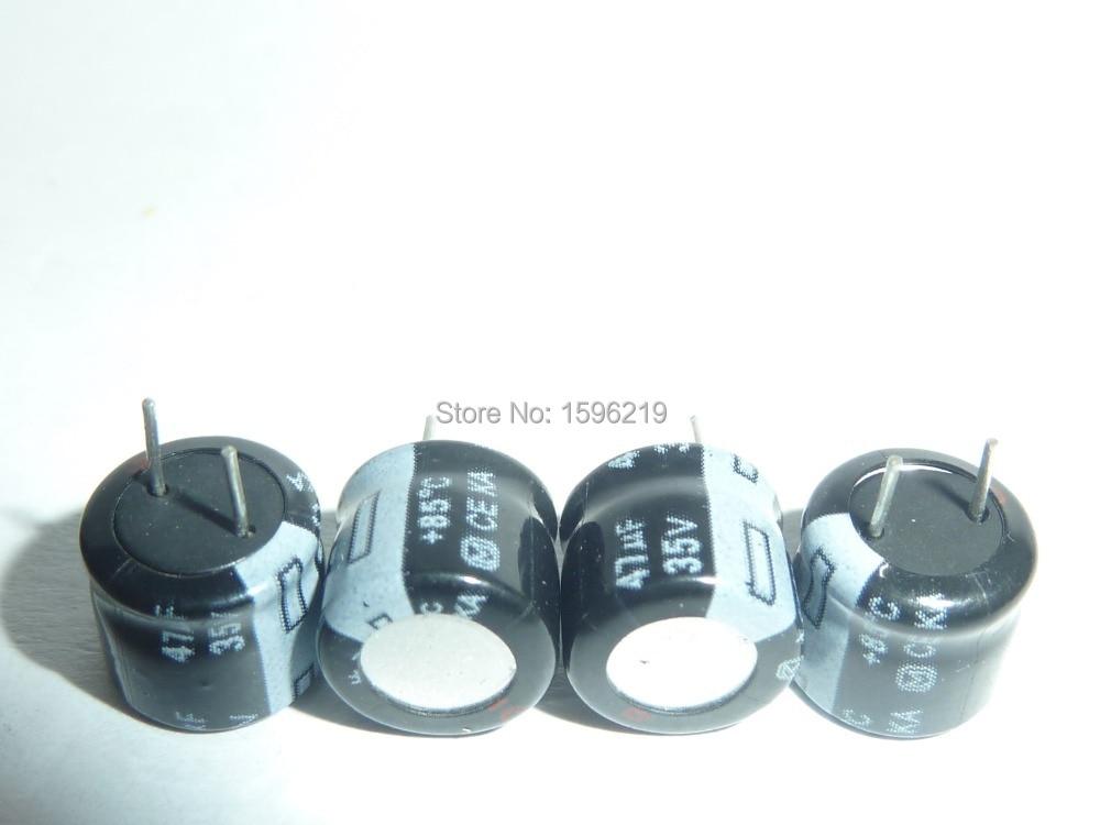 10pcs 47uF 35V KA Series 8x7mm High Quality 35V 47uF Aluminum Electrolytic Capacitors