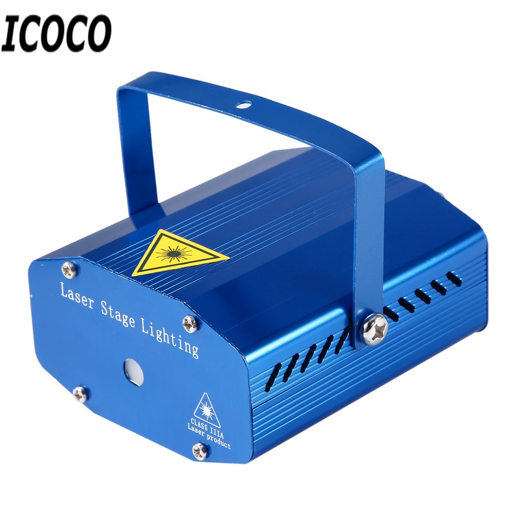 ICOCO red green Mini Laser Stage Lighting effect projector outdoor christmas party Strobe Lights DJ Club Bar Pub Wedding Sale rg mini 3 lens 24 patterns led laser projector stage lighting effect 3w blue for dj disco party club laser