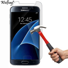 2PCS For Tempered Glass Samsung Galaxy S7 Screen Protector Ultra-Thin Protective Film For Samsung Galaxy S7 Glass For Samsung S7 cheap Wolfsay Ultra-thin Easy to Install Scratch Proof Front Film Mobile Phone Tempered Glass For Samsung Galaxy S7 G9300 2 5D