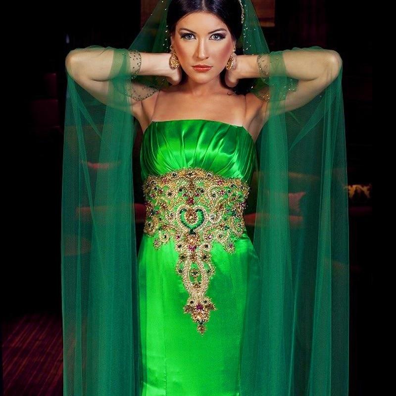 b39ab1eaa5 Fashion Indian Evening Dress Emerald Saudi Arabia Middle East Long ...