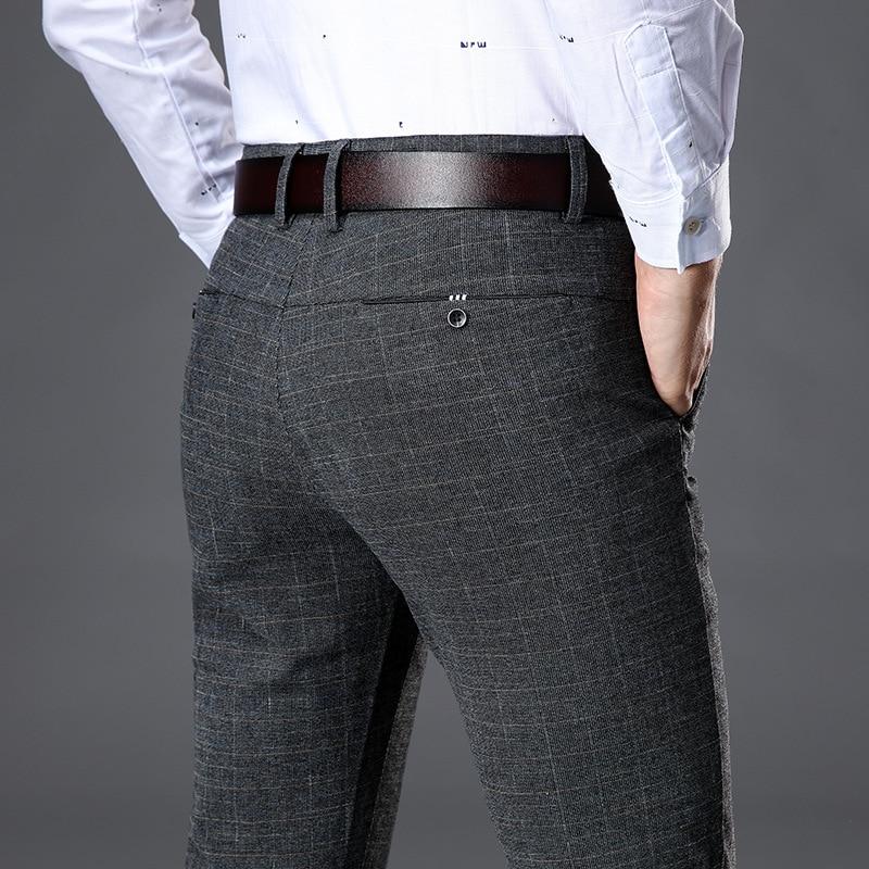2019 Men s Stretch Stripe Casual Pants Men s Four Seasons High Quality Business Trousers Men Innrech Market.com