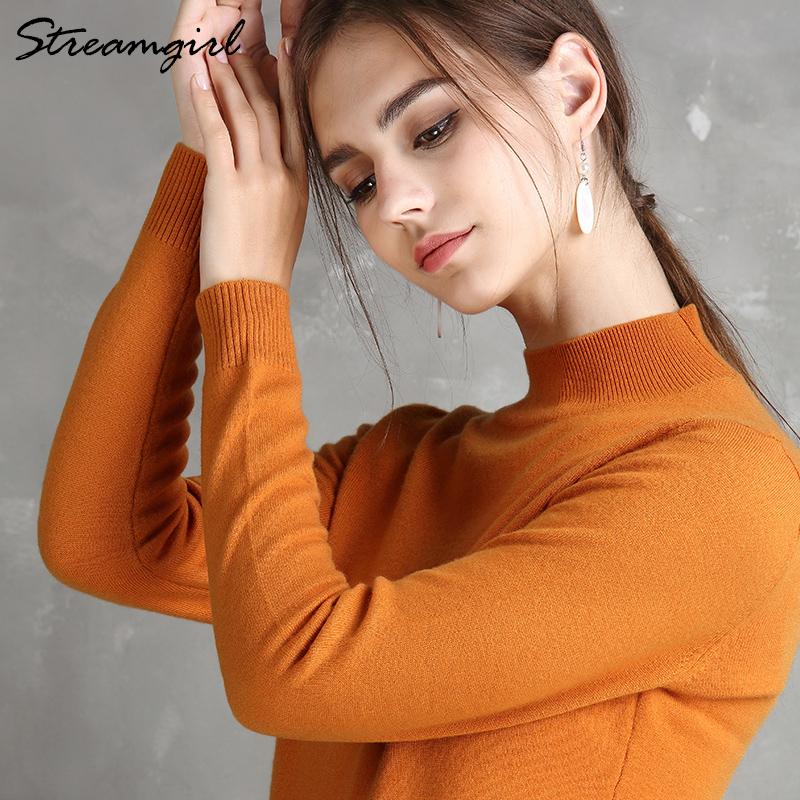 Womens Sweaters Ladies Pink Sweater For Women Red Cashmere Woman Jumper Knitted Winter Cashmere Sweater Female Women Jumper
