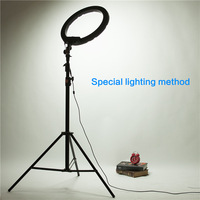 14 40W 5500K Camera Photo Video LED Ring Continuous Light With 2 2m Light Stand For