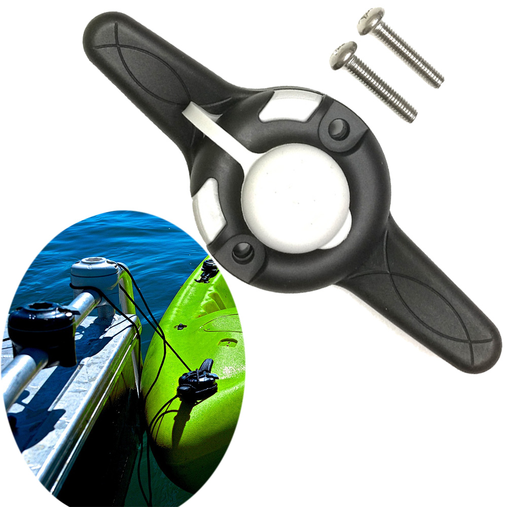Canoe Kayak Cleat Port RIB Port Tie Up Cleat Rowing Boats Sea Fishing Holder Mount Base Rod Pole Tackle Kit Accessory